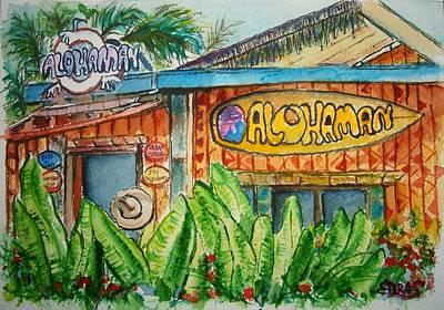 Painting - Alohaman by Elaine Duras