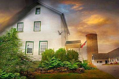 Barn And Silo Photograph - Alone Again by Diana Angstadt