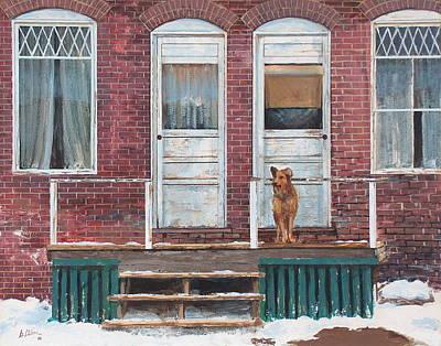 Cripple Painting - Alone Again by Greg Clibon