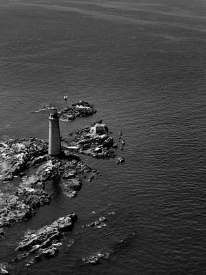Photograph - Alone Against The Sea Black And White by Joshua House