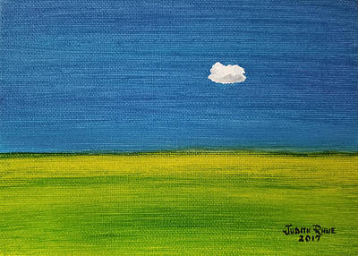 Art Print featuring the painting Alone And Fine by Judith Rhue