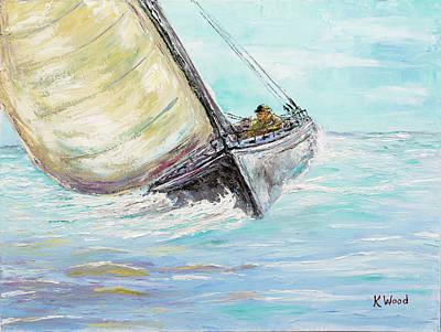 Alone At Sea Original by Ken Wood