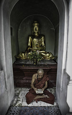 Front View Photograph - Alone At Shwedagon by David Longstreath
