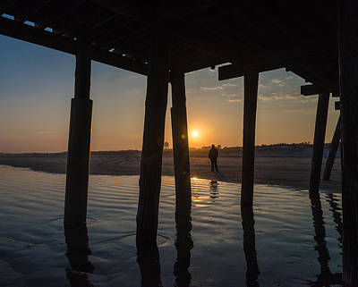 Beach Landscape Photograph - Alone At Sunset by Kristopher Schoenleber