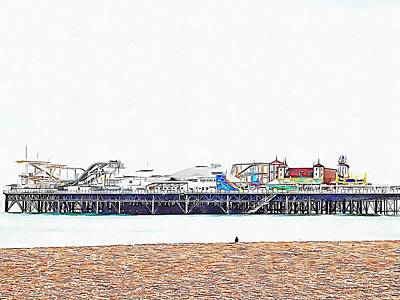Photograph - Alone At The Seaside by Dorothy Berry-Lound