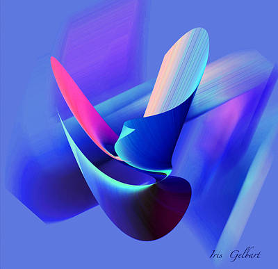 Digital Art - Alone But Not Lonely by Iris Gelbart