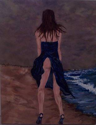Alone By The Sea Art Print by Francis Bourque