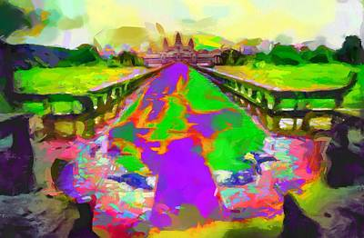 Cambodian Painting - Alone In Angkor Wat - Cambodia by The  Candy Trail