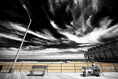 Photograph - Alone In Asbury Park Fusion by John Rizzuto