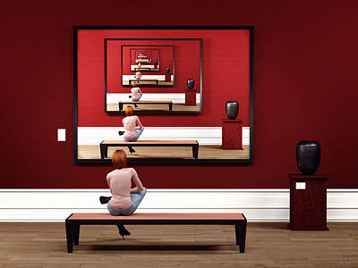 Digital Art - Alone In My Gallery by Shinji K