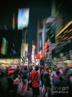Photograph - Alone In New York City 1 by Jeff Breiman