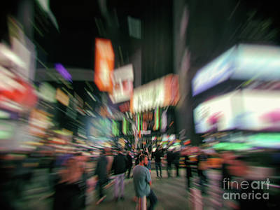 Photograph - Alone In New York City 4 by Jeff Breiman