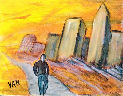 Alone In The City Art Print by Van Winslow