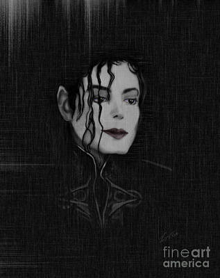 Michael Jackson Painting - Alone In The Dark I by Reggie Duffie