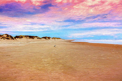 Digital Art - Alone In The World On The Outer Banks Ap by Dan Carmichael