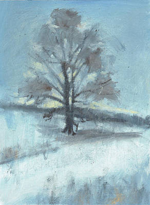 Alone In Winter Art Print by Spencer Meagher