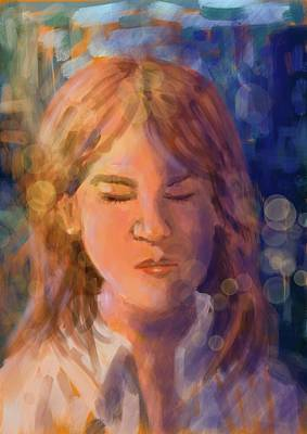 Digital Art - Alone by Larry Whitler
