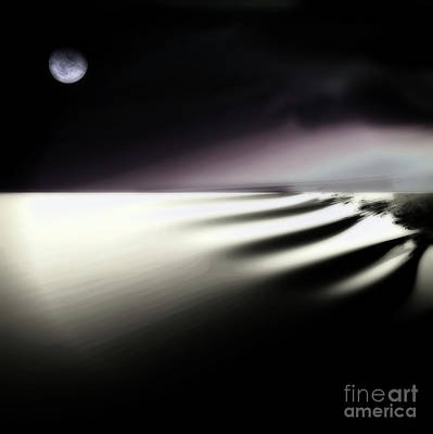 Moonscape Painting - Alone by Mindy Sommers
