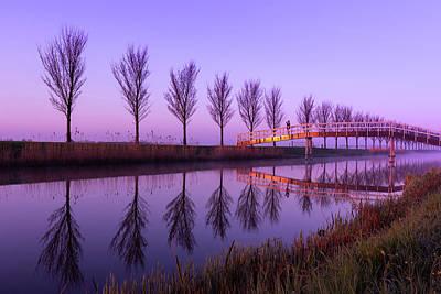 Photograph - Alone On A Canal Bridge by Susan Leonard