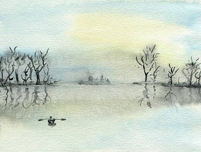Painting - Alone On Quiet Waters by R Kyllo