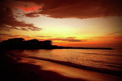 Jamaican Sunset Photograph - Alone On The Beach by Kamil Swiatek