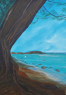 Painting - Alone On The Beach by Tony Rodriguez
