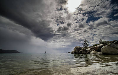 Photograph - Alone On The Lake by Martin Gollery
