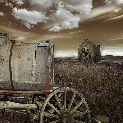 Antique Wagons Photograph - Alone On The Plains by Jeff Burgess