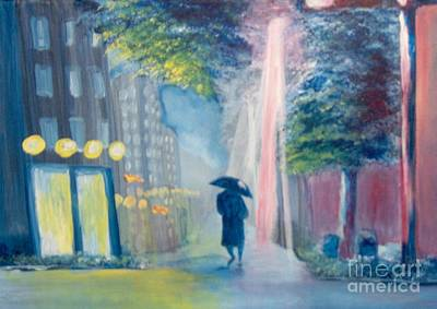 Art Print featuring the painting Alone by Saundra Johnson