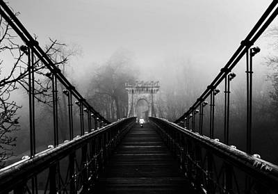 Bridge Photograph - Alone-series by Catalin Alexandru