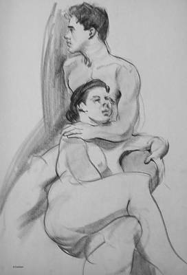Drawing - Alone Together by Robert Holden