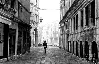 Photograph - Alone With My Thoughts In Venice by John Rizzuto