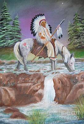 Painting - Alone With The Great Spirit by Janna Columbus
