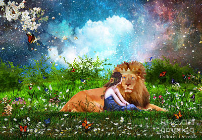 Animals Digital Art - Alone with the King by Dolores Develde