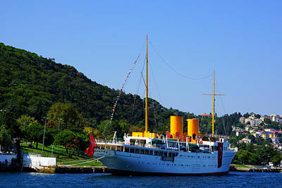 Photograph - Along Bosphorus - The Ship by Lilia D