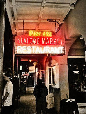 Photograph - Along Bourbon Street - New Orleans by Glenn McCarthy Art and Photography