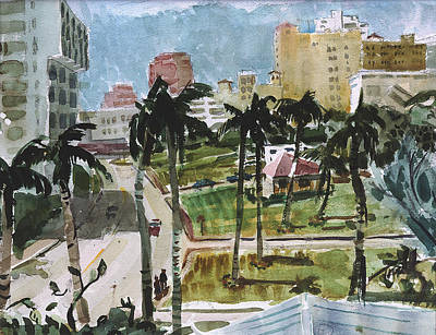 Along Flagler Drive Art Print
