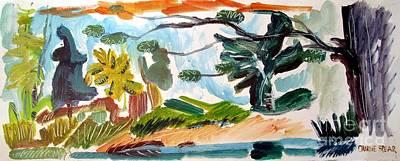 Along Owl Creek Art Print by Charlie Spear
