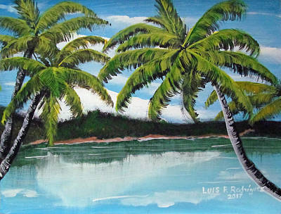 Painting - Along Palm Coast by Luis F Rodriguez