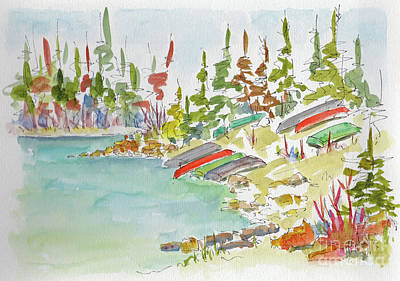 Viridian Painting - Along Patricia Lake by Pat Katz