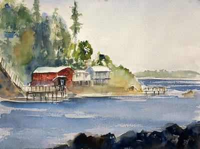 Painting - Along Pablo Bay by Tom Simmons