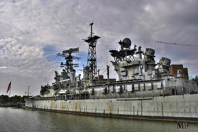 Photograph - Along Side The Battleship by Michael Frank Jr