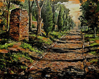 Painting - Along The Appian Road by Alan Lakin