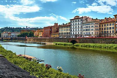 Photograph - Along The Arno River by Fine Art Photography Prints By Eduardo Accorinti