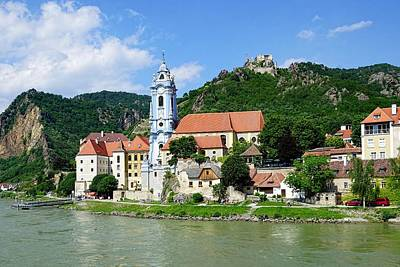 Along The Beautiful Danube River Art Print