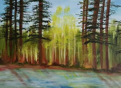 Blackfoot River Painting - Along The Blackfoot by Cheryl Nancy Ann Gordon