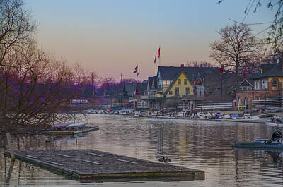 Along The Boathouse Row Art Print by Bill Cannon