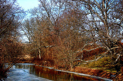 Impressionistic Landscape Photograph - Along The Brandywine by Gordon Beck