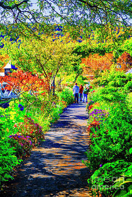 Photograph - Along The Bridge Of Flowers by Rick Bragan
