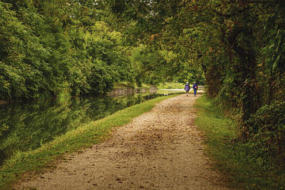 Photograph - Along The Canal by Robert Mitchell